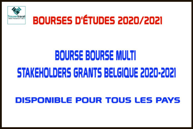 Bourse Multi Stakeholders Grants