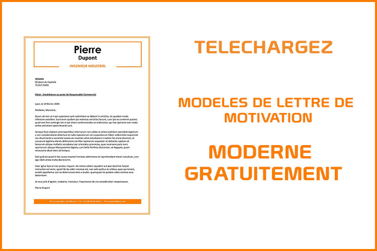 mod u00e8le de lettre de motivation moderne word