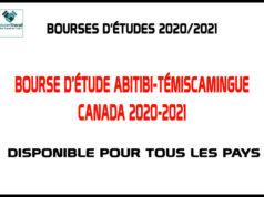 Bourse D'étude Abitibi-Témiscamingue Canada 2020-2021