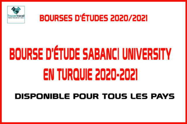 Bourse-D'étude-Sabancı-University-en-Turquie-2020-2021