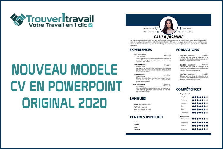 Téléchargez un Nouveau CV 2020 EN PowerPoint - Trouver1Travail