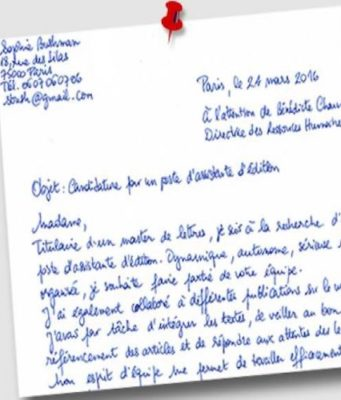 Lettre de motivation gratuite pour stage
