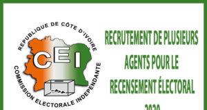 Recrutement de plusieurs Agents pour le recensement électoral