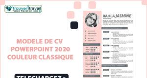 CV PowerPoint 2020 gratuit à télécharger