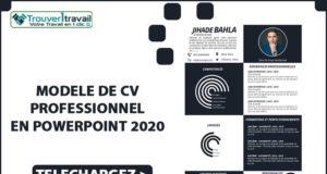 CV Professionnel PowerPoint 2020 à télécharger