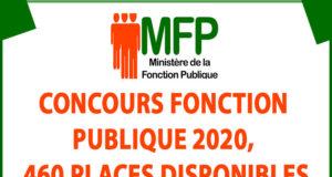 Concours fonction publique 2020, 460 PLACES DISPONIBLES