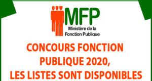 Concours fonction publique 2020, LES LISTES SONT DISPONIBLES