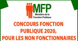 Concours fonction publique 2020, pour les non fonctionnaires
