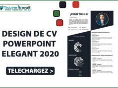 DESIGN DE CV POWERPOINT ELEGANT 2020