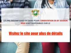Côte d'Ivoire Orientation BT session 2020