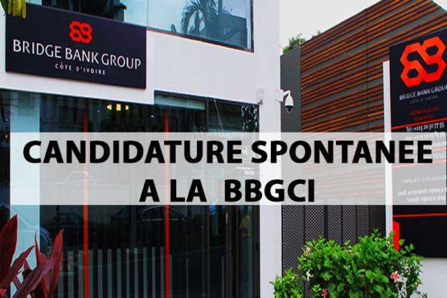 Candidature spontanée chez Bridge Bank Group Côte d'Ivoire (BBG CI)