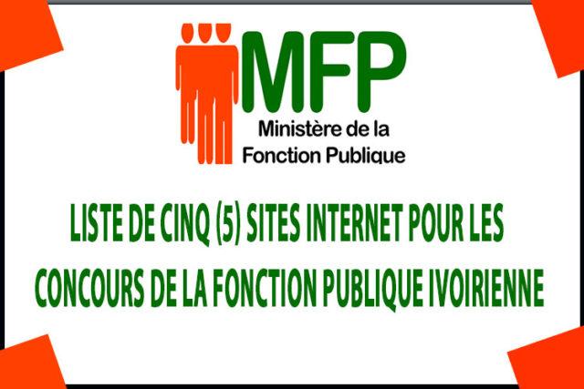 Cinq (5) Sites internet pour les Concours de la fonction publique Ivoirienne